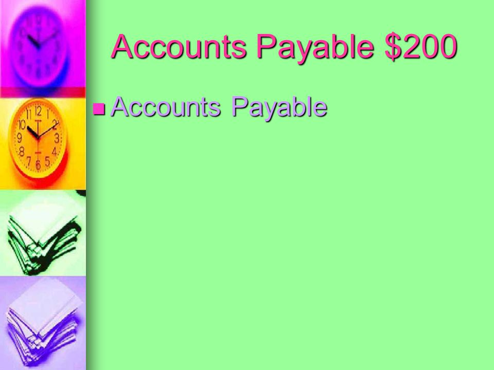 Accounts Payable $100 What is credit is posted to the AP Ledger from the Purchases Journal.