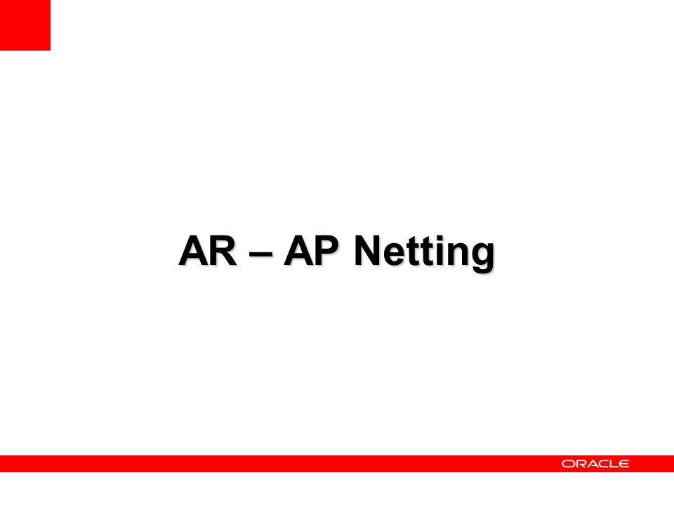 AR – AP Netting