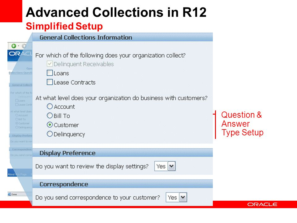 Advanced Collections in R12 Simplified Setup Question & Answer Type Setup