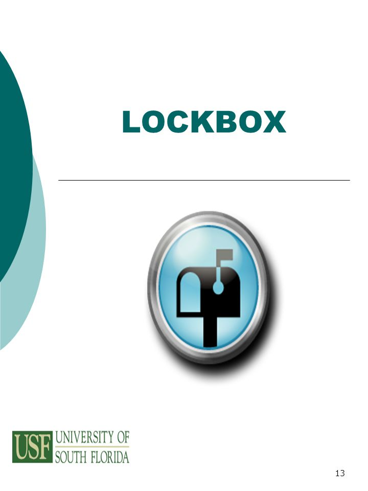 13 LOCKBOX