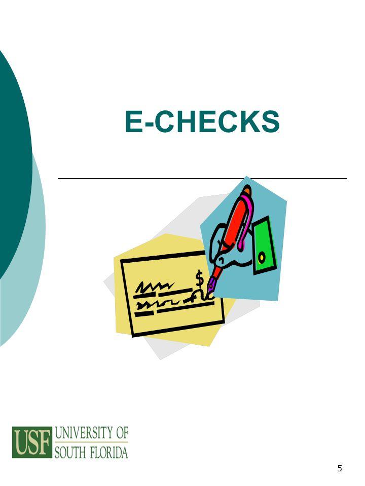 5 E-CHECKS