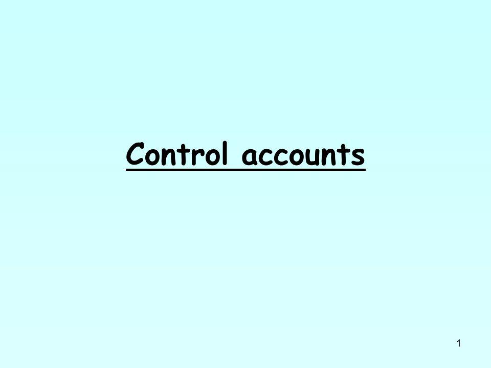 1 Control accounts