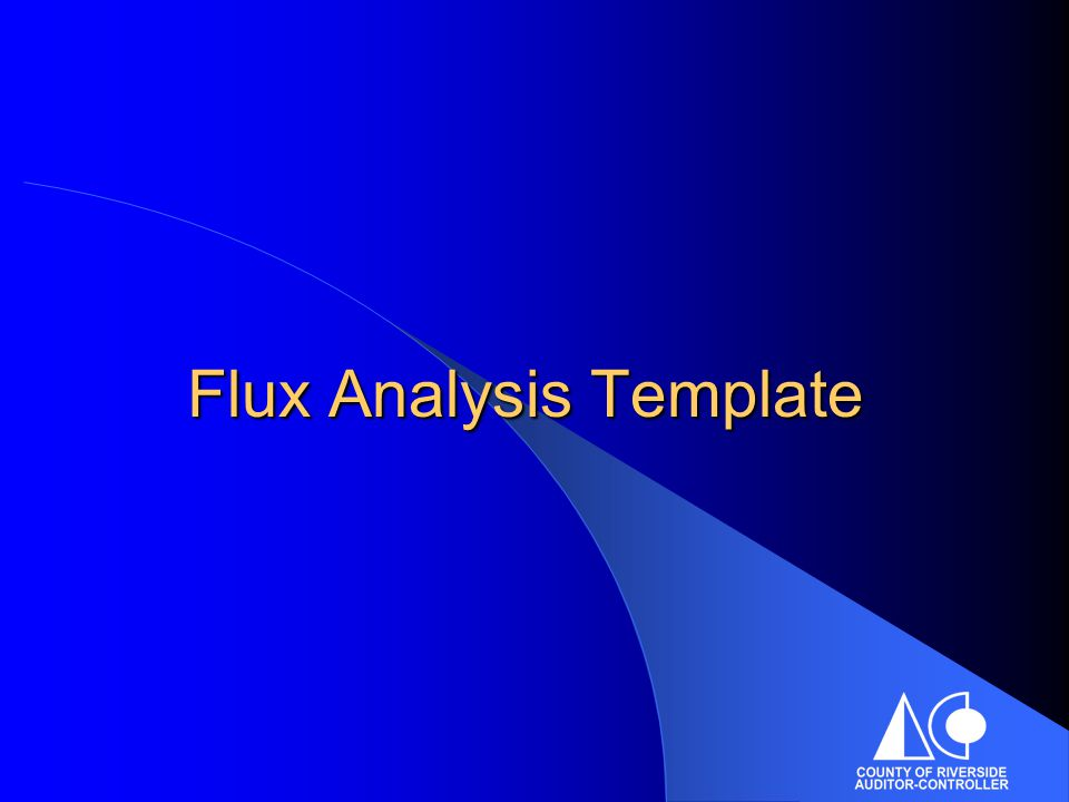 Flux Analysis Template