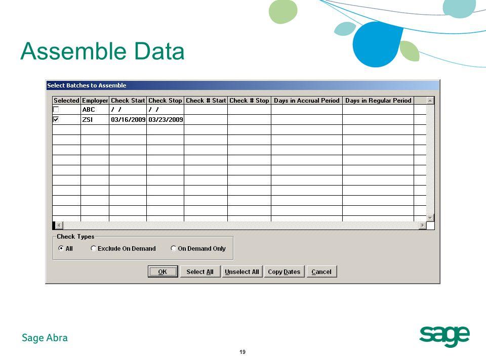 19 Assemble Data