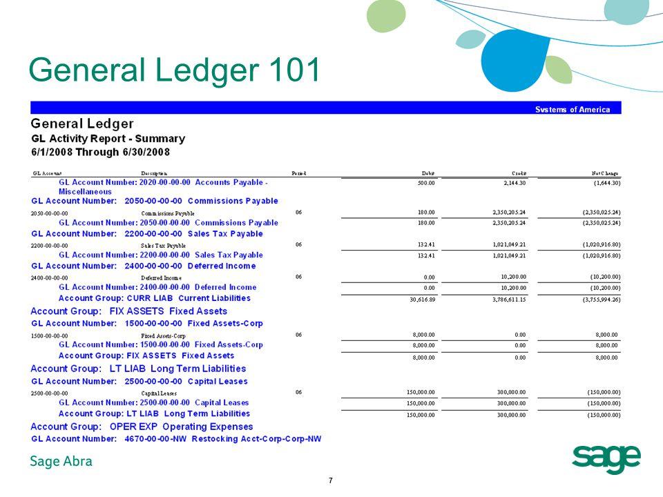 7 General Ledger 101