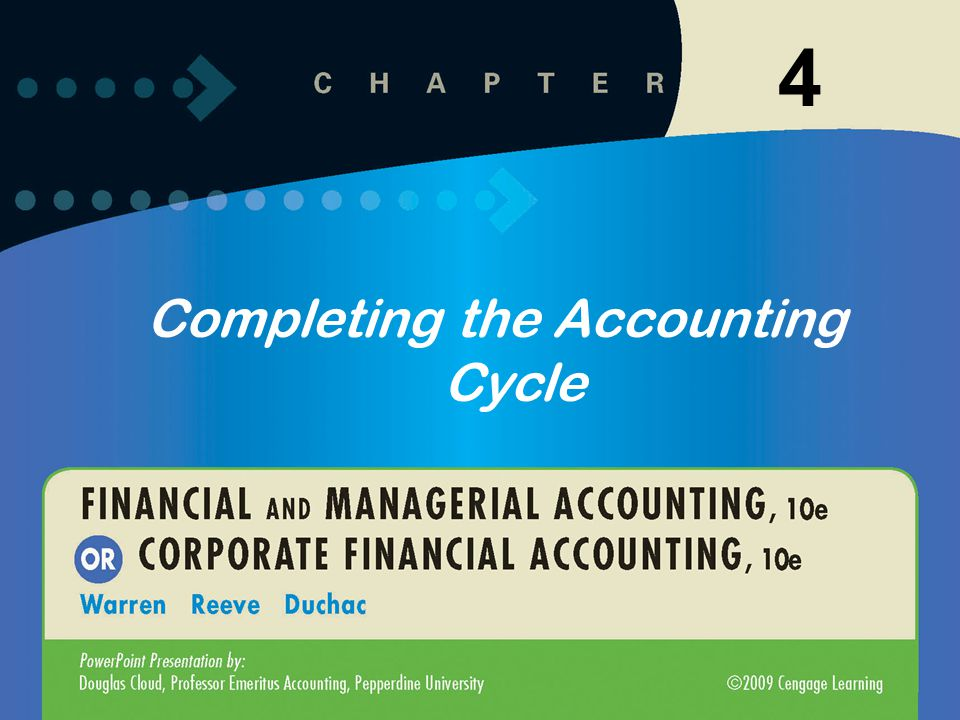 1 4 Completing the Accounting Cycle
