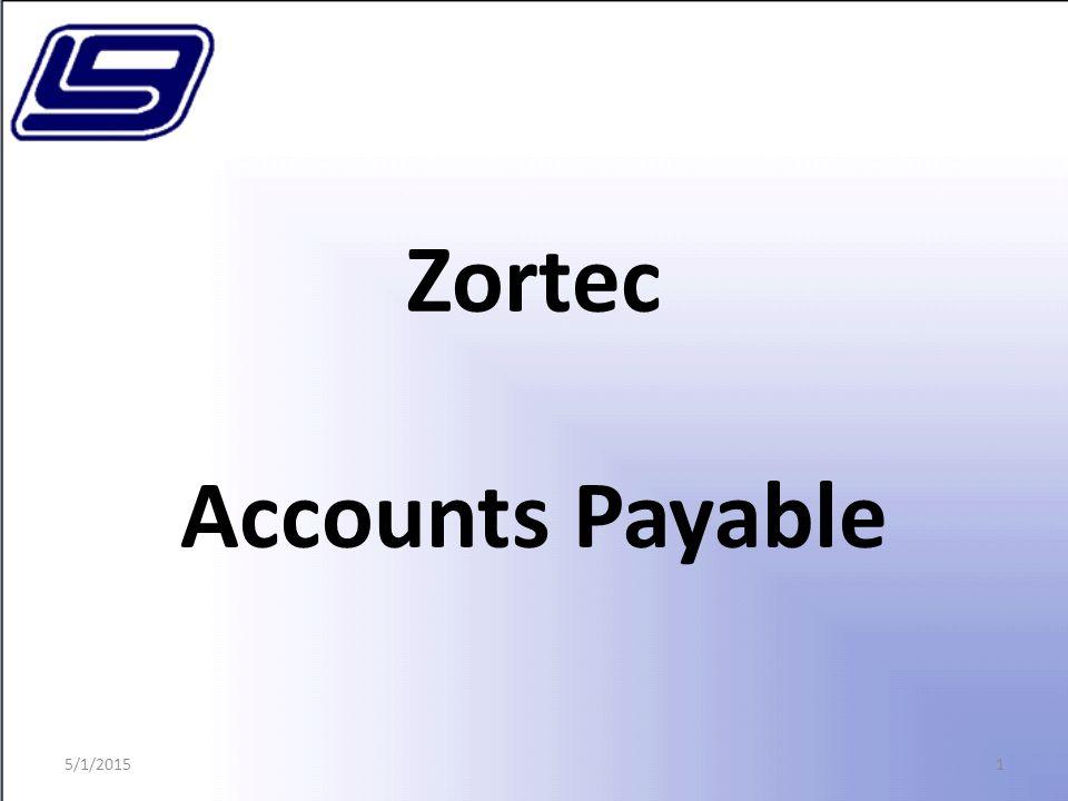 1 Zortec Accounts Payable 5/1/2015