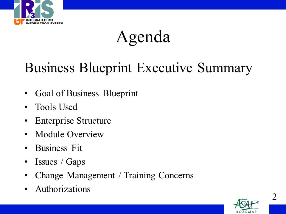1 university of tennessee finance business blueprint ppt download 2 2 agenda business blueprint executive summary goal of business blueprint tools used enterprise structure module overview business fit issues gaps change malvernweather Gallery