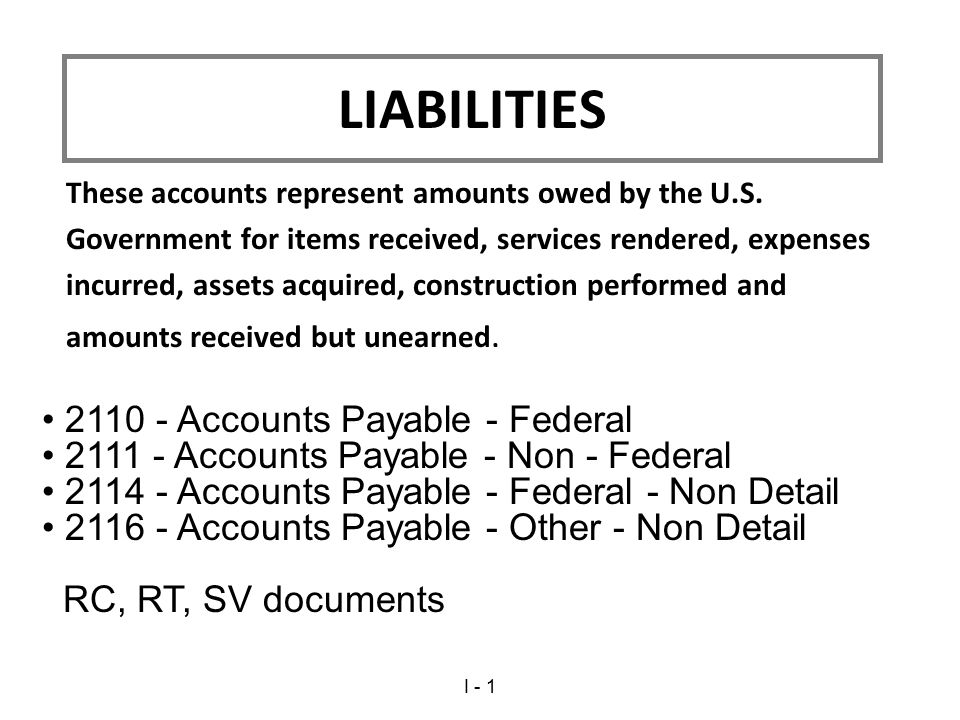 These accounts represent amounts owed by the U.S.