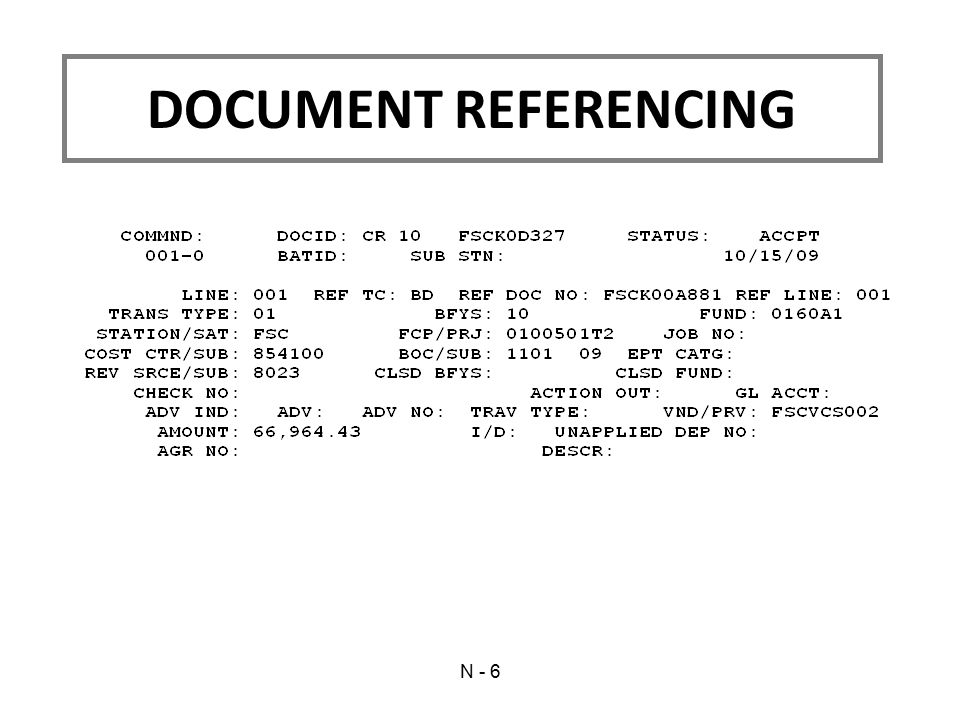 DOCUMENT REFERENCING N - 6