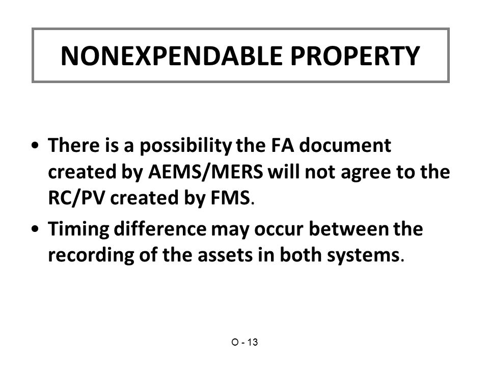 There is a possibility the FA document created by AEMS/MERS will not agree to the RC/PV created by FMS.