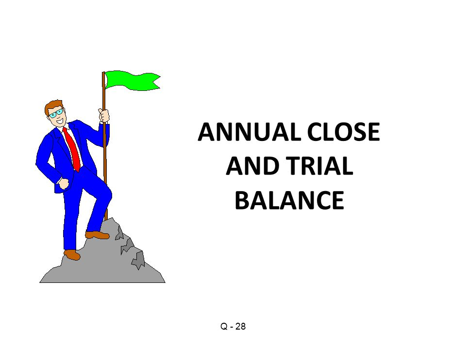 ANNUAL CLOSE AND TRIAL BALANCE Q - 28