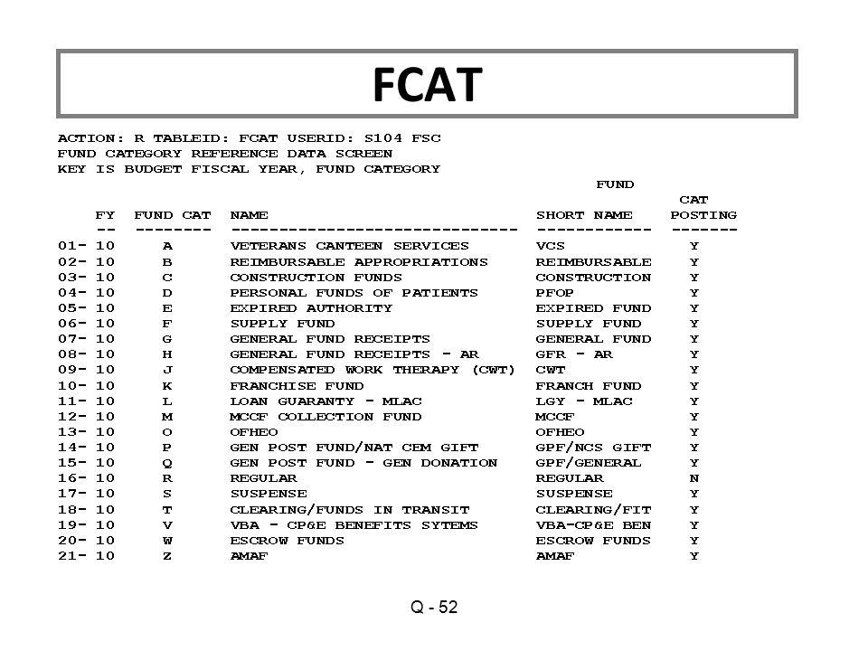 Q - 52 FCAT