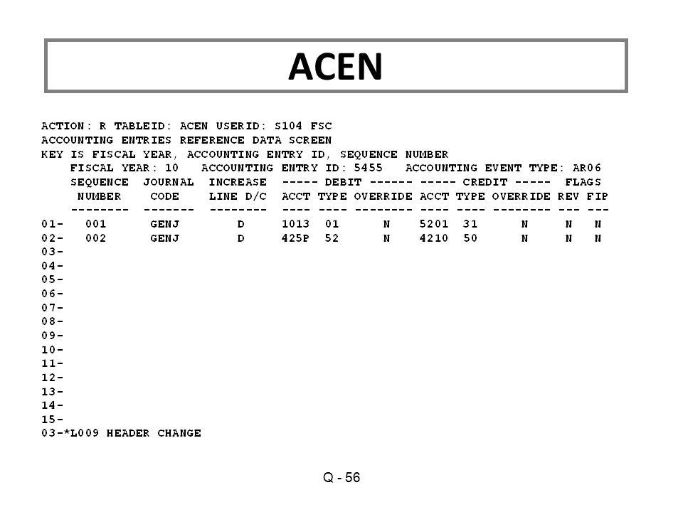 Q - 56 ACEN