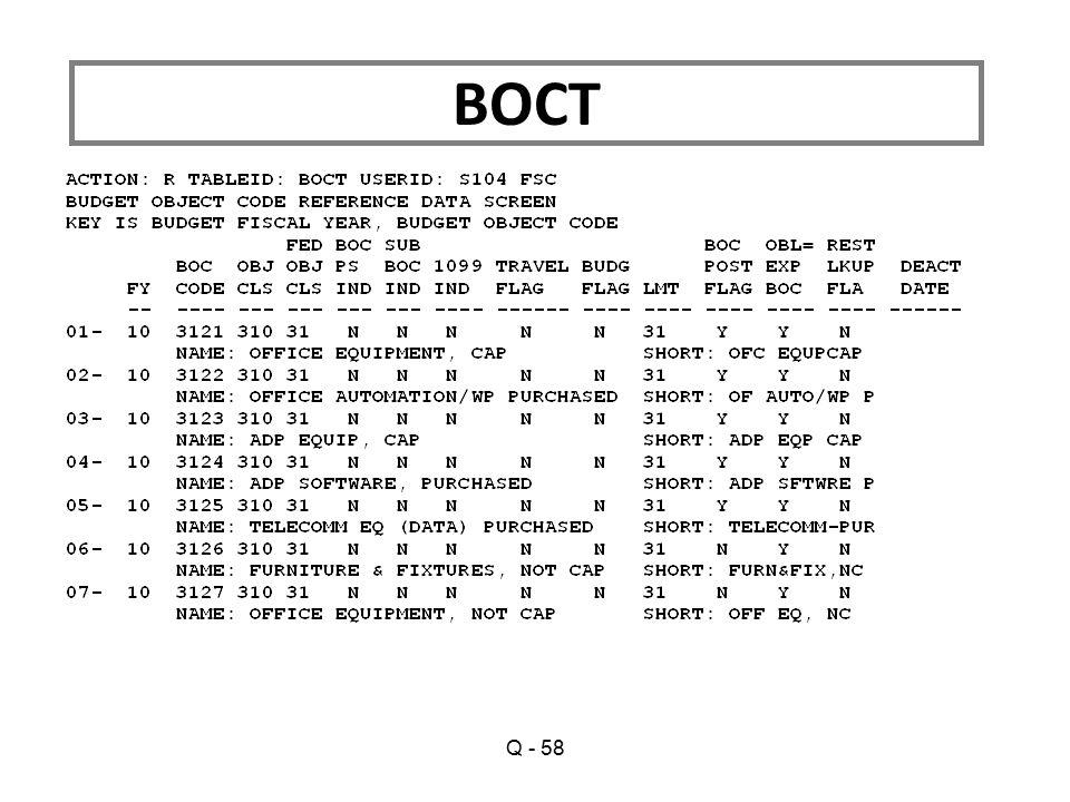 Q - 58 BOCT