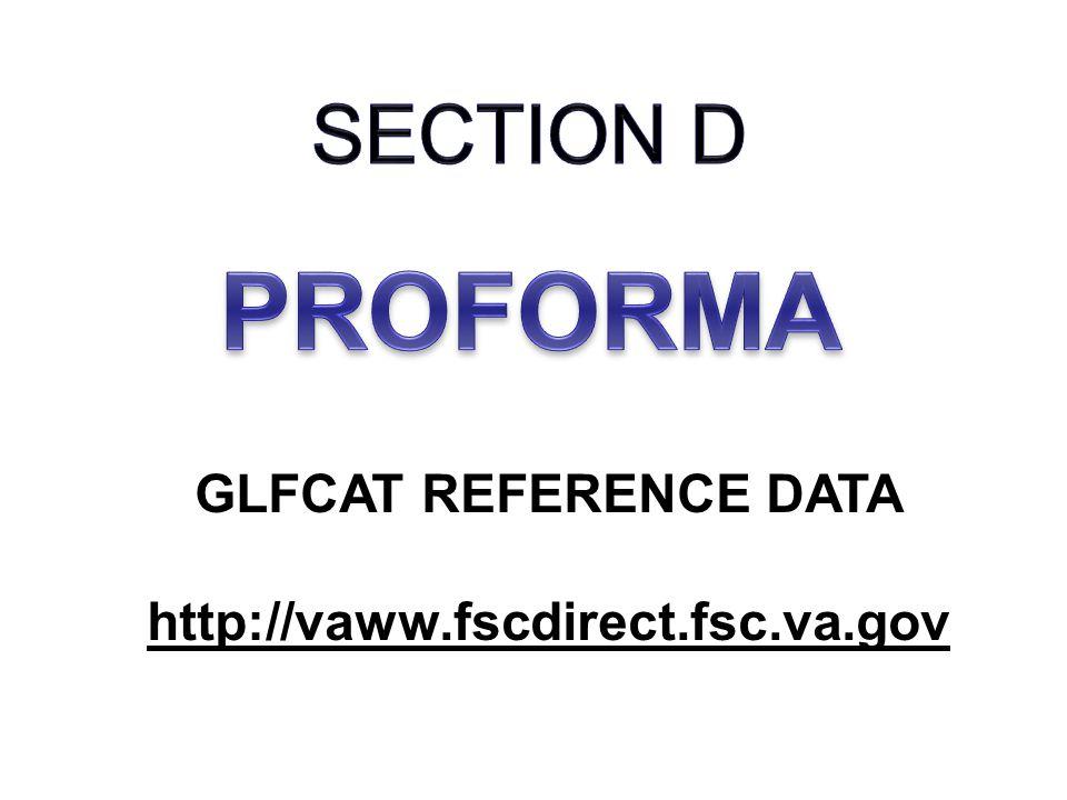 GLFCAT REFERENCE DATA http://vaww.fscdirect.fsc.va.gov