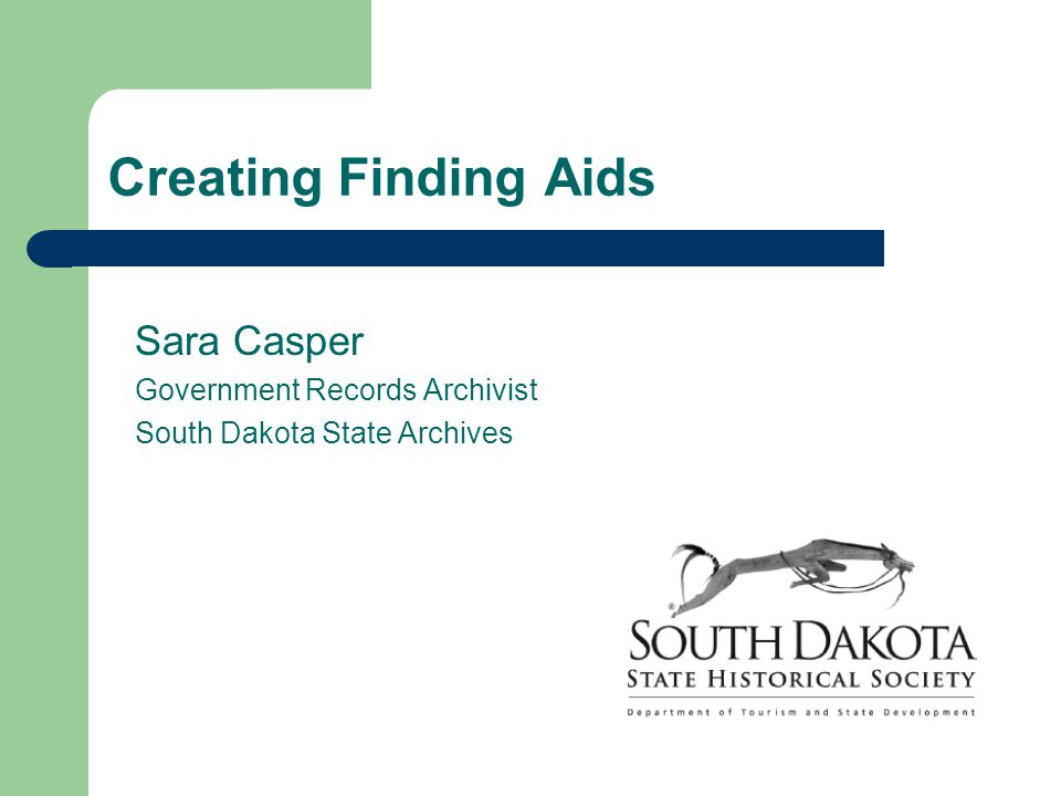 In this presentation… What is an archival finding aid.