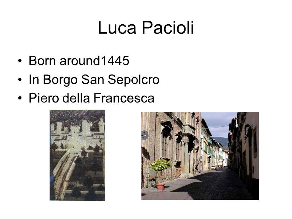 Born around1445 In Borgo San Sepolcro Piero della Francesca