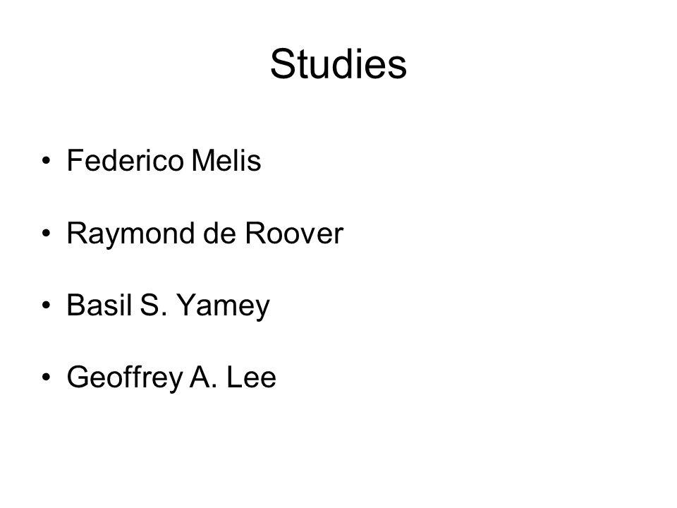 Studies Federico Melis Raymond de Roover Basil S. Yamey Geoffrey A. Lee