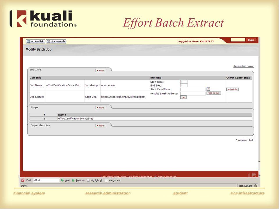 Effort Batch Extract