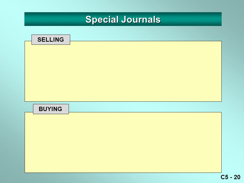 C5 - 20 SELLING BUYING Special Journals