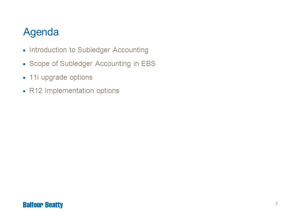 14 Scope of Subledger Accounting in EBS Where and how used up to R12.1.3  Accounting for Journals in the following subledgers of the core Financials Suite: –Assets, Cost Management*, Purchasing**, E-Business Tax, Payables, Receivables, Cash Management *Cost Management covers Purchasing Receipts, Inventory and Manufacturing **Purchasing covers burden and encumbrance accounting for Requisitions and Purchase Orders  Accounting for Journals elsewhere in EBS: –Payroll, Projects, Lease and Finance Management, Loans, Property Manager, Process Manufacturing, Price Protection, Trade Management, Contract Commitment and Federal Financials.