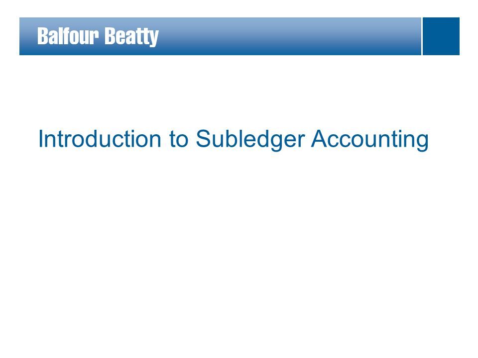 Introduction to Subledger Accounting