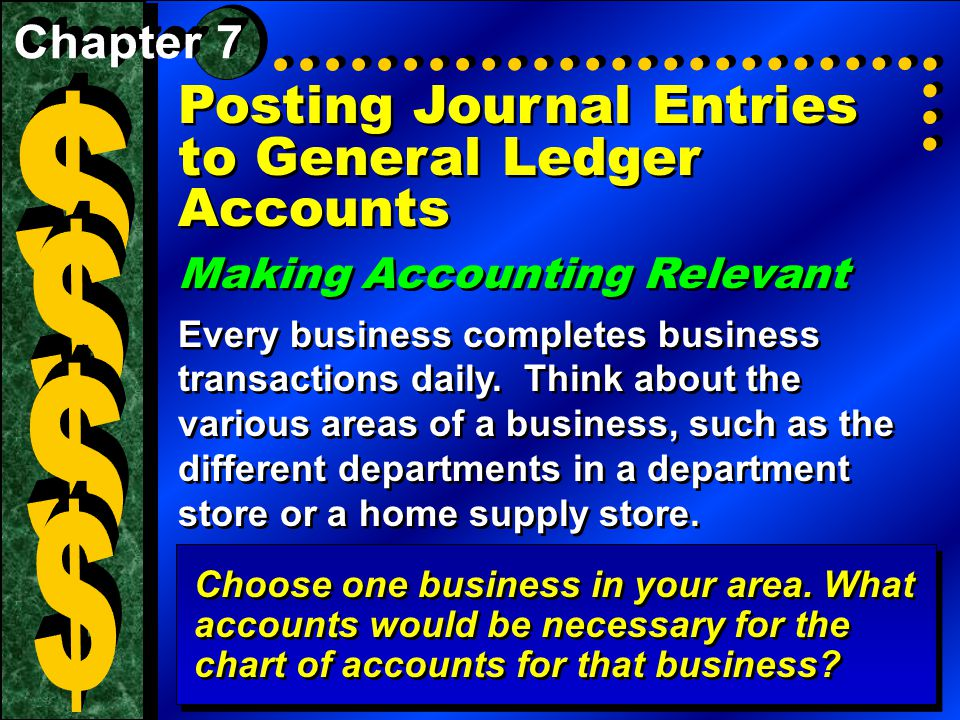 Section 1The General Ledger What You'll Learn  The purpose of the general ledger.