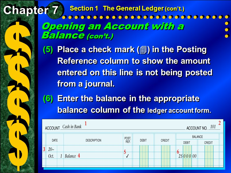 Check Your Understanding 1.List the steps involved in opening an account with a zero balance.