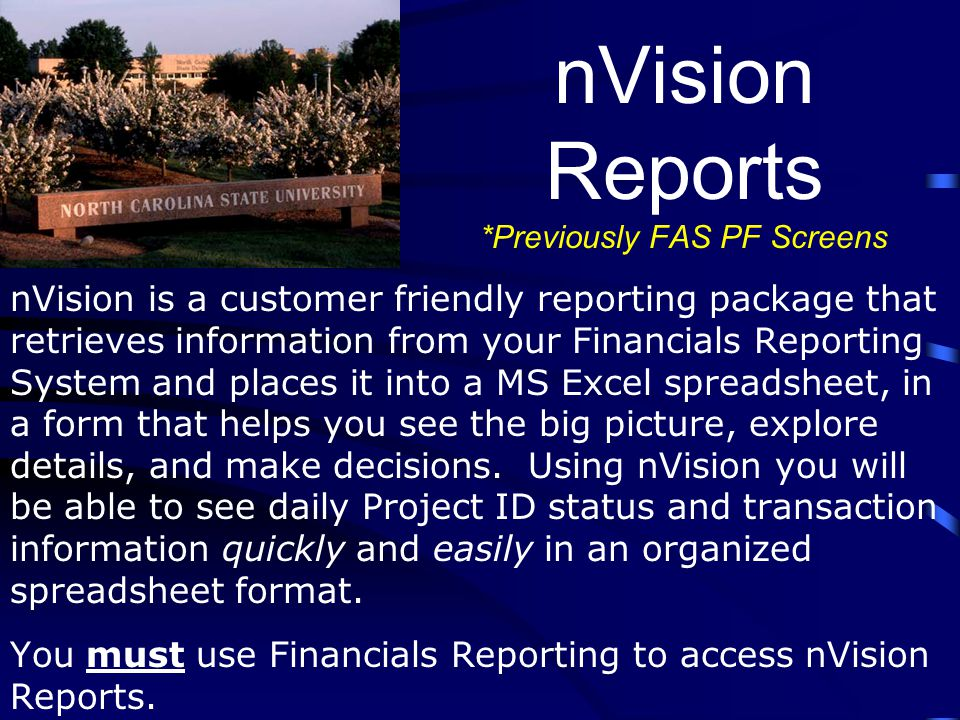 Basic Query Tools The Financials database contains a large volume of valuable data.