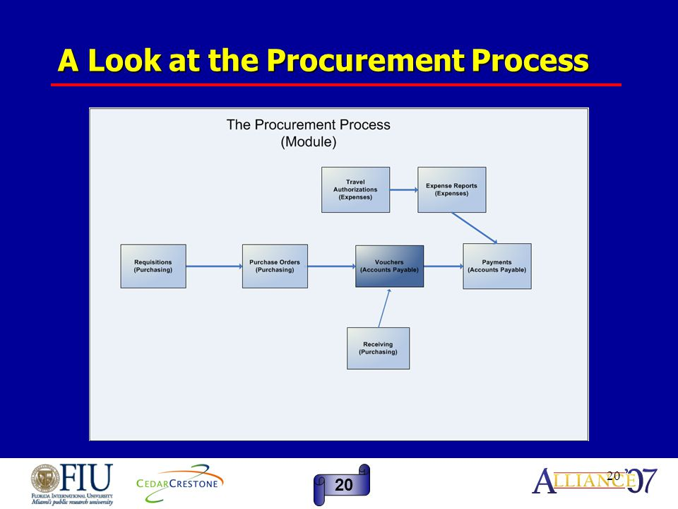 20 A Look at the Procurement Process 20