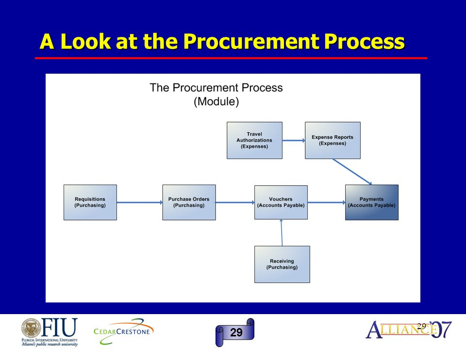 29 A Look at the Procurement Process 29