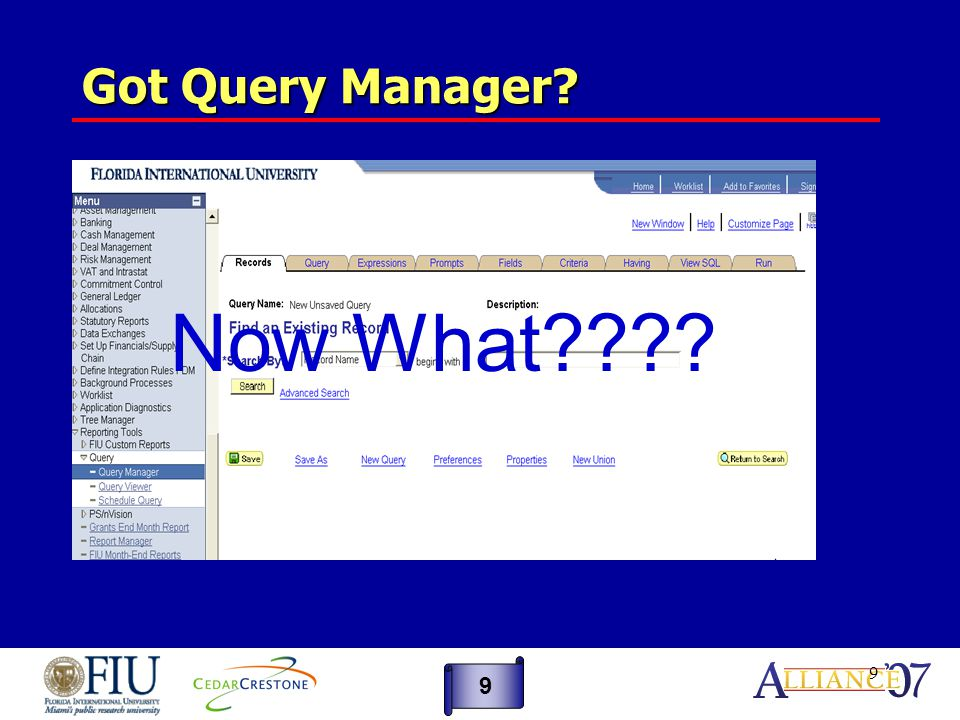 40 Steps to Look Up a Record 40 1.Go to the page in PeopleSoft that has the field you are looking for.