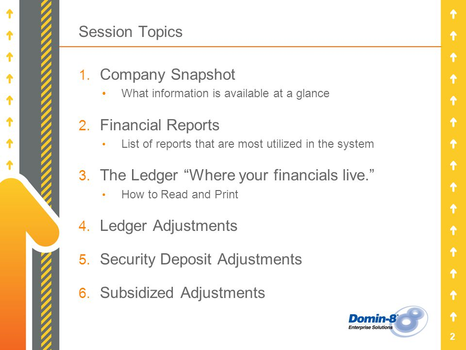 Session Topics 1. Company Snapshot What information is available at a glance 2.