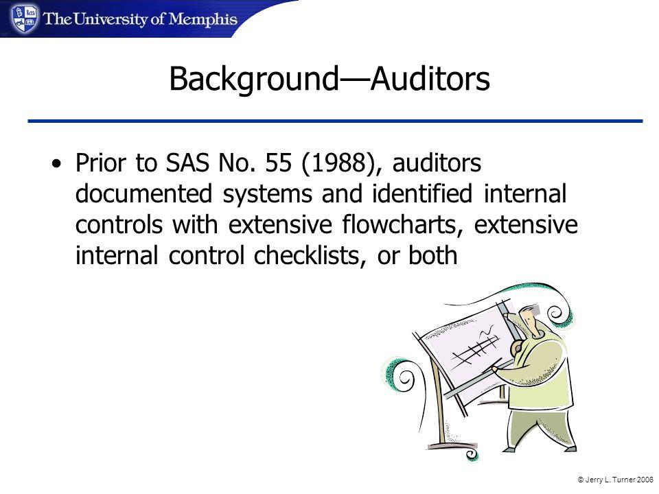 © Jerry L. Turner 2006 Background—Auditors Prior to SAS No.