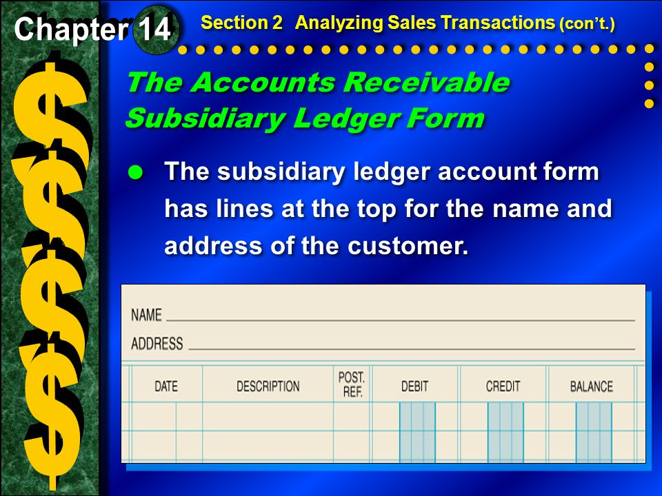Business Transaction ANALYSIS Identify1.The accounts affected are Accounts Receivable (controlling), Accounts Receivable—Casey Klein (subsidiary), Sales, and Sales Tax Payable.