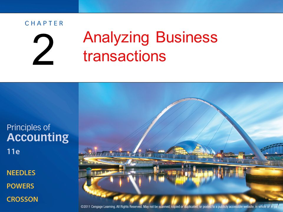 Analyzing Business transactions 2