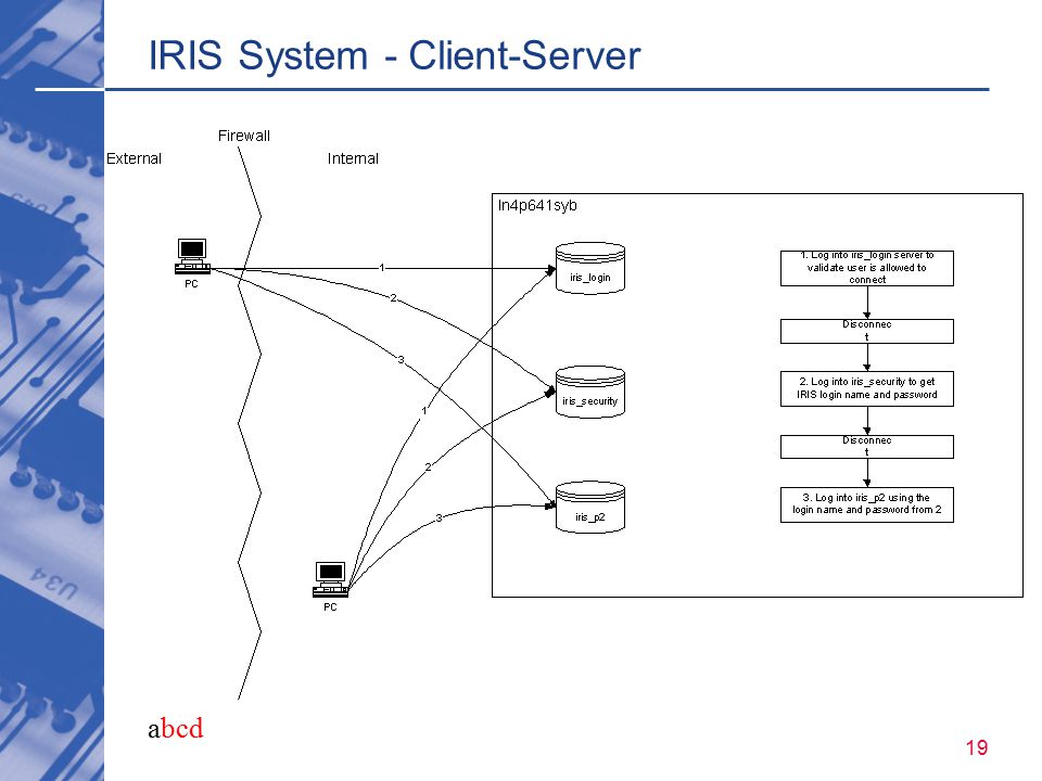 abcd 19 IRIS System - Client-Server
