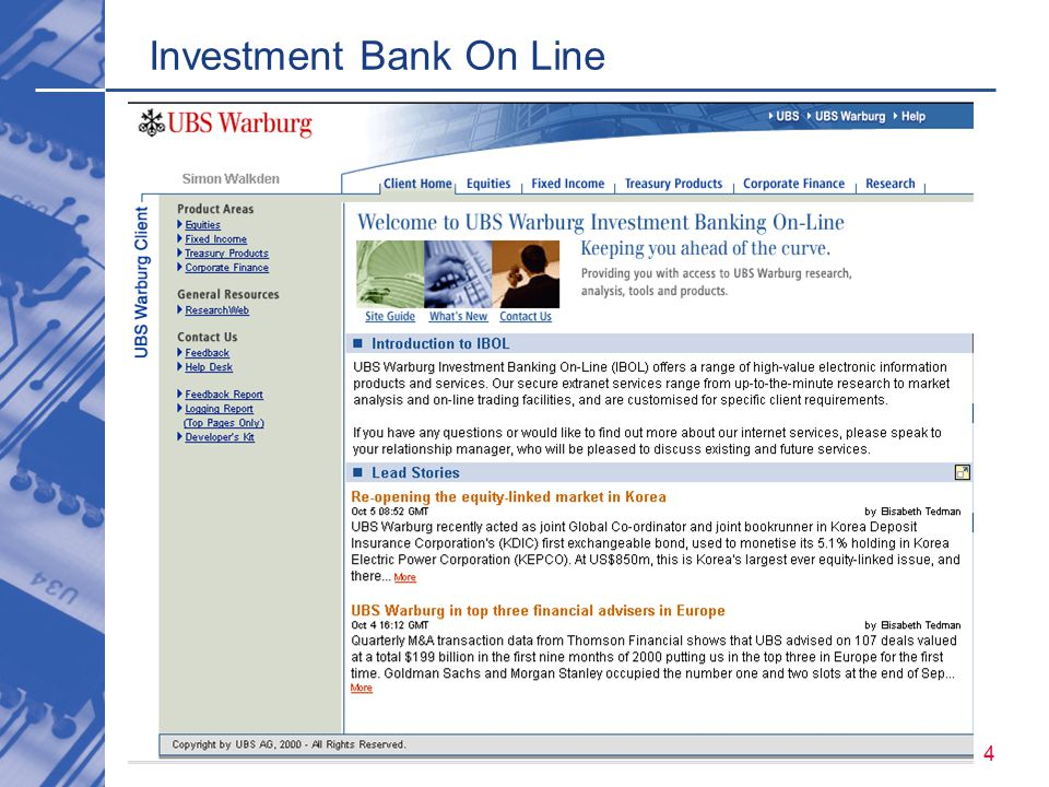 abcd 4 Investment Bank On Line
