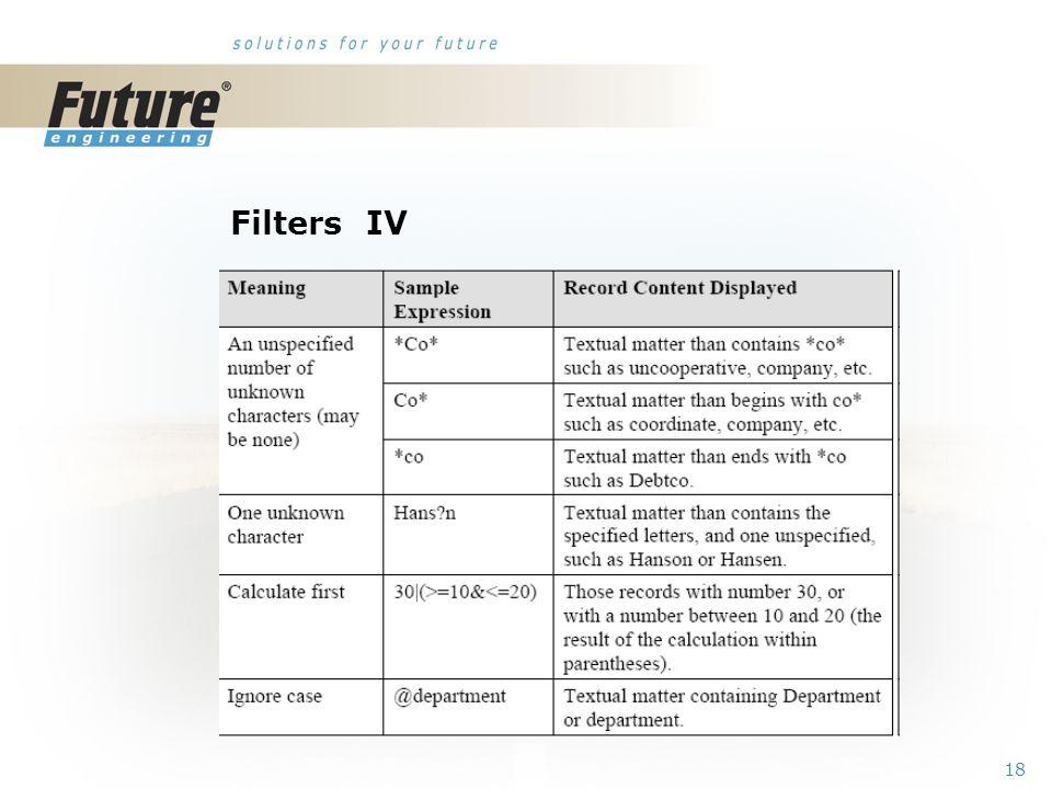 17 Filters III