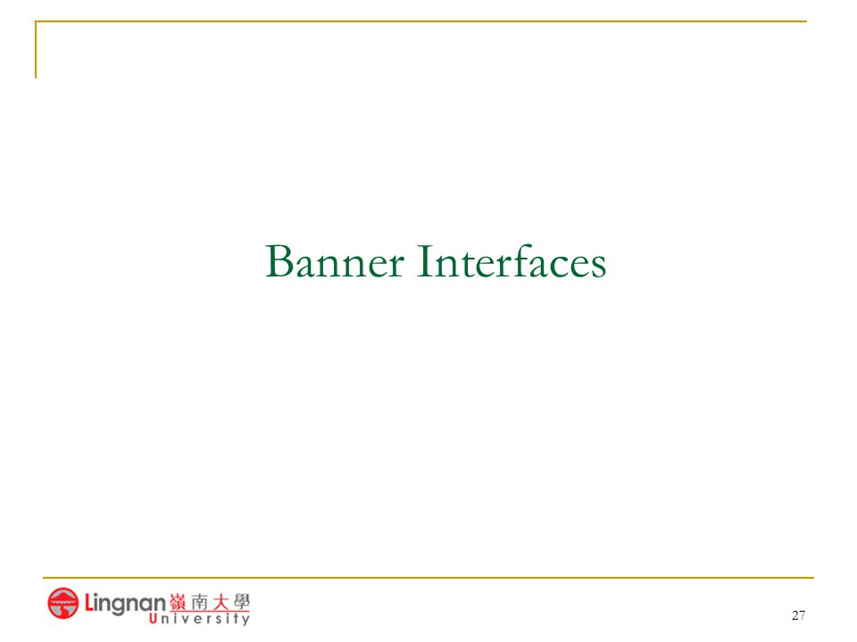 27 Banner Interfaces