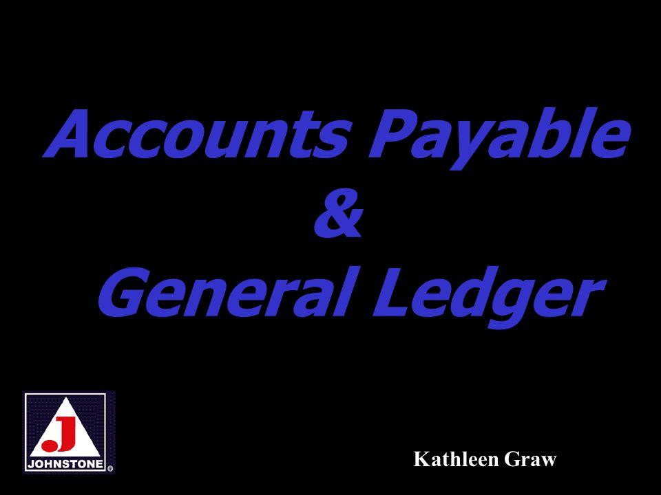 Accounts Payable & General Ledger12 Balance Summary and Detail 1.