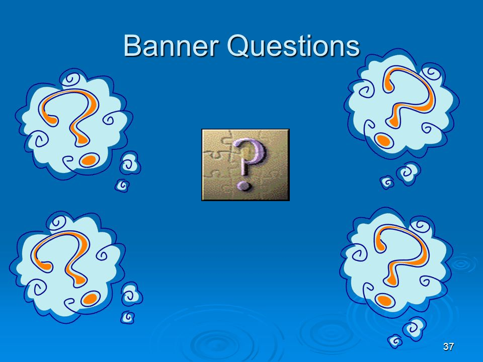 37 Banner Questions