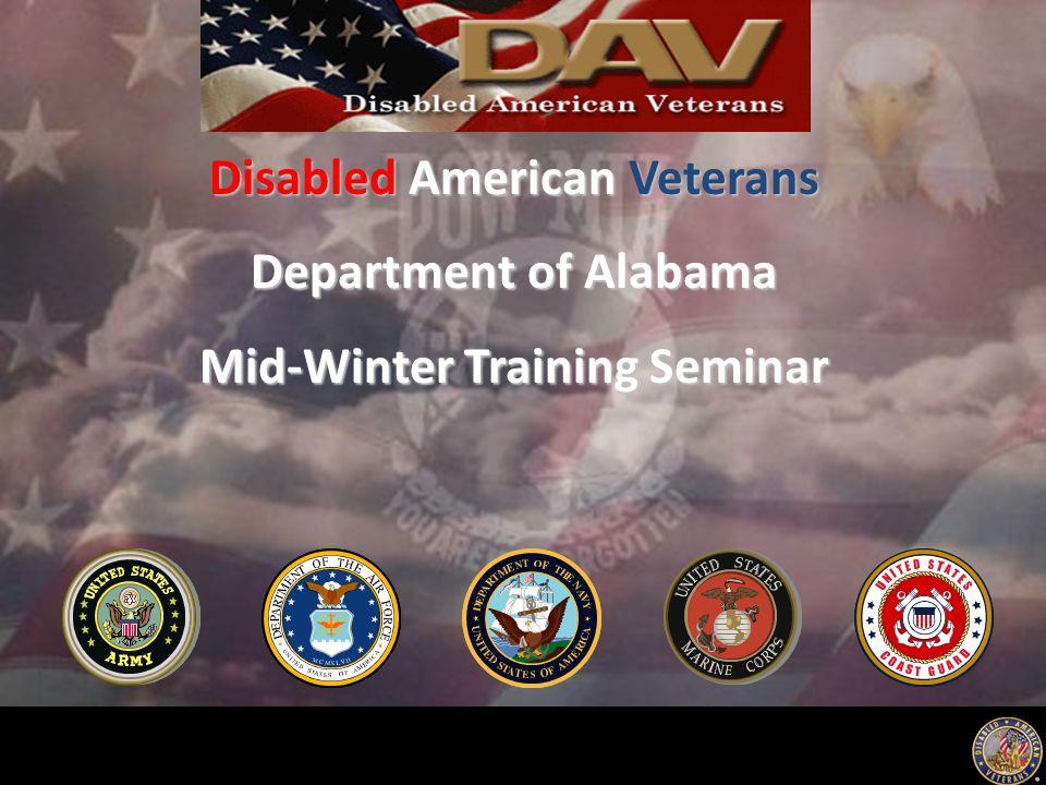 Disabled American Veterans Department of Alabama Mid-Winter Training Seminar
