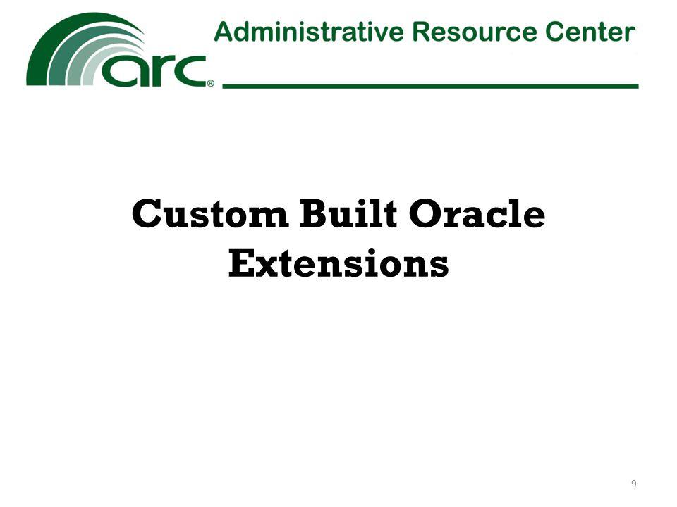 Custom Built Oracle Extensions 9