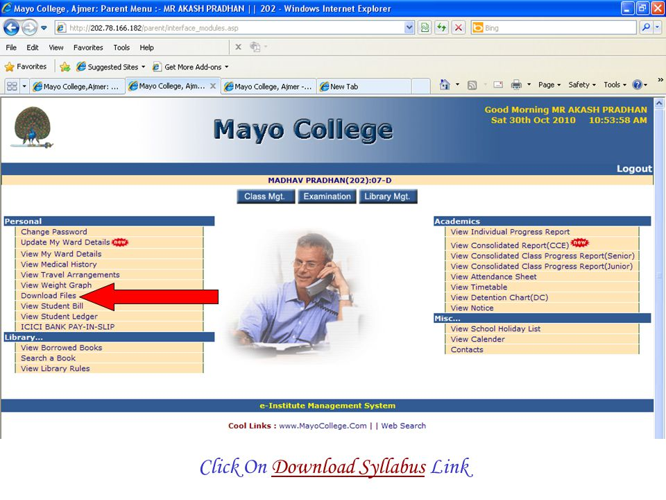 Click On Download Syllabus Link