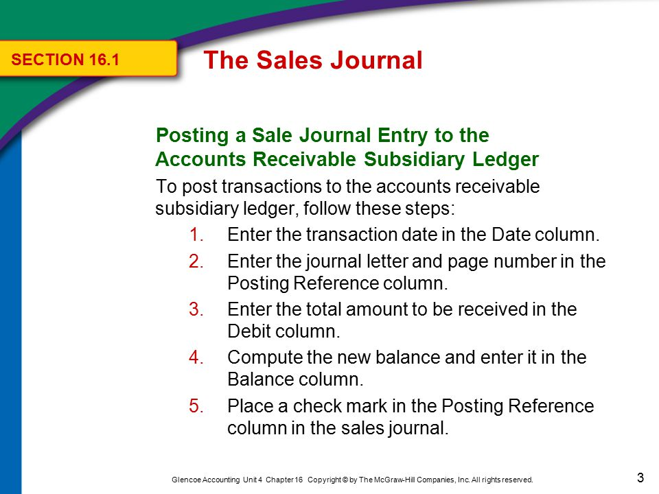34 Glencoe Accounting Unit 4 Chapter 16 Copyright © by The McGraw-Hill Companies, Inc.