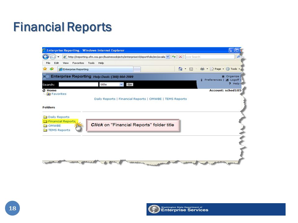 Financial Reports 18