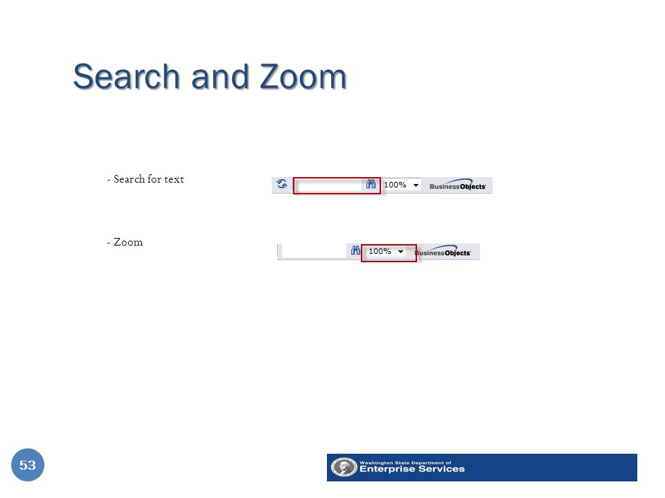 Search and Zoom 53 - Search for text - Zoom 53