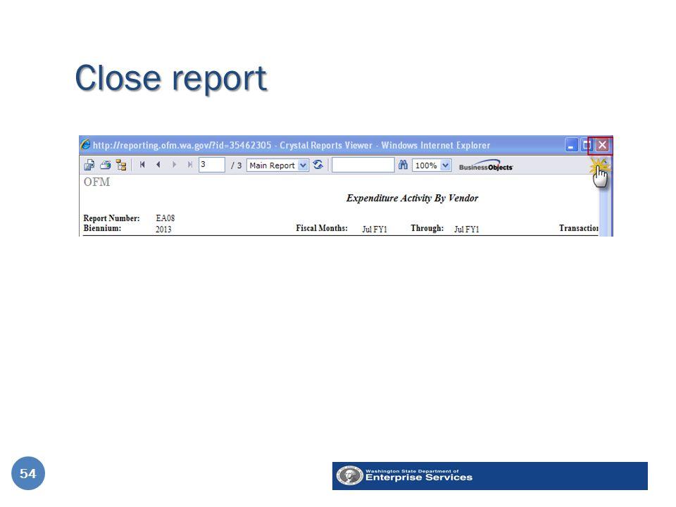 Close report 54
